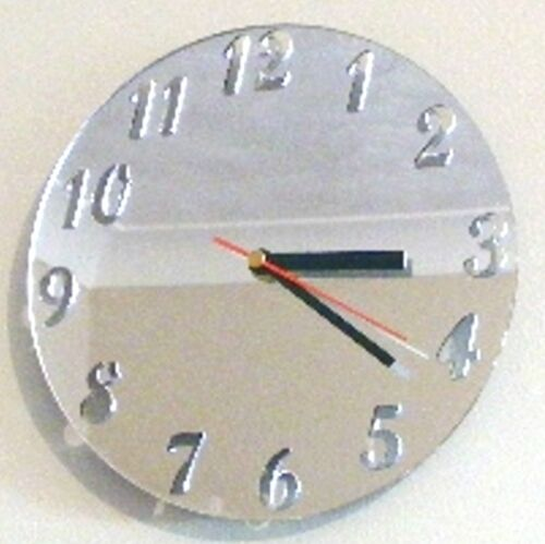 Round Clock - Acrylic Mirror (Several Sizes Available)