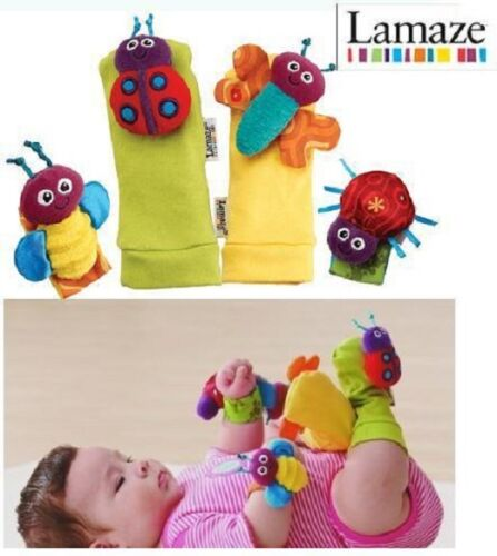 Lamaze wrist & foot rattles for infant/baby, coloured soft hand/foot finder toys