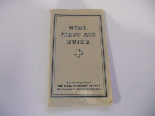 NYAL FIRST AID GUIDE c 1950,s THE NYAL FAMILY MEDICINES