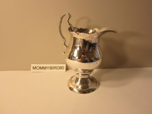 Antique British c.1775/76 London Sterling Silver Pedestal Creamer