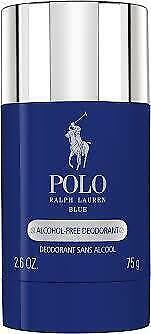 POLO BLUE DEODORANT STICK 75ML 75G BY RALPH LAUREN FOR MEN'S ALCOHOL FREE DEO