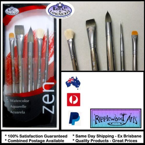 Royal Langnickel - ZEN Series 83 (Set-832) Quality Watercolor Brushes  x 5