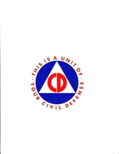 2 REPRODUCTION CIVIL DEFENSE VEHICLE  4 Inch AUTOMOBILE STICKER DECAL COLD WARReproductions - 156443