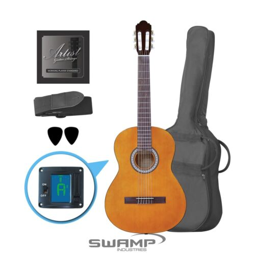 4/4 Full Size Classical Nylon String Acoustic Guitar - Amber