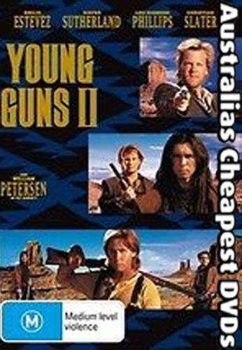Young Guns 2 DVD NEW, FREE POSTAGE WITHIN AUSTRALIA REGION ALL