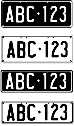 NUMBER PLATE NOVELTY - PERFECT FOR TRAILER OR BIKE RACK GOLF CART ETC