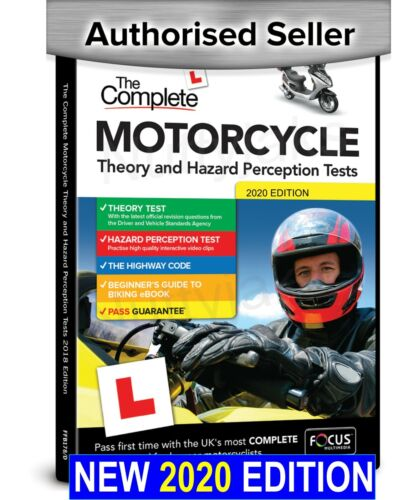 2019 Complete Motorcycle/Motorbike Theory & Hazard Perception Tests PC DVD-R CD