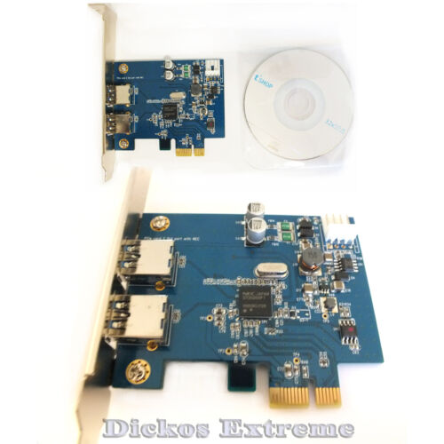 USB 3.0 Dual Port PCI Express Controller Card OKGear- OK3420  With NEC Chipset.