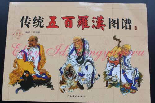Chinese painting sketch 500 Buddha Tattoo Flash Reference Book