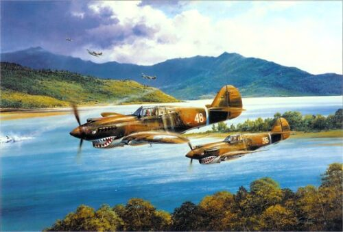 ROBERT TAYLOR Chennault's Flying Tigers P-40 Tomahawks 7 Famous AVG Signatures