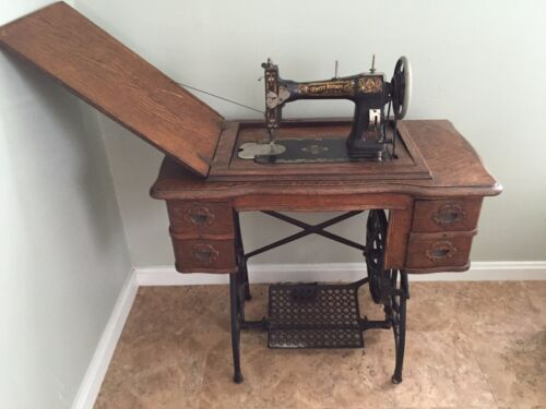 Antique Sewing Machine White Rotary