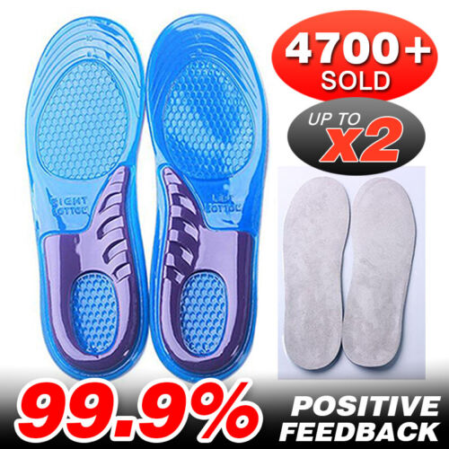 Massaging Gel Shoe Insoles Arch Supports For Men Women FlatFoot High Quality