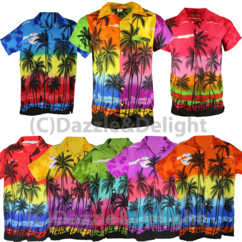 HAWAIIAN SHIRT PARTY FANCY DRESS S XL XXL BEACH PALM TREE SHIRT STAG PARTY LARGE <br/> ALL SIZES KIDS SIZE - 5XL **UK SELLER**FAST DISPATCH