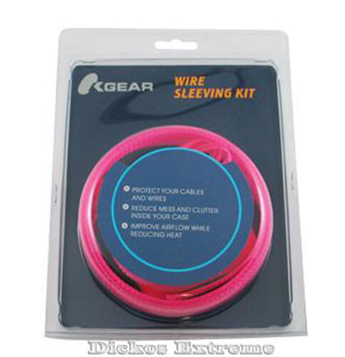 UV Pink Expandable Cable Sleeving Kit- D.I.Y Mod Kit.