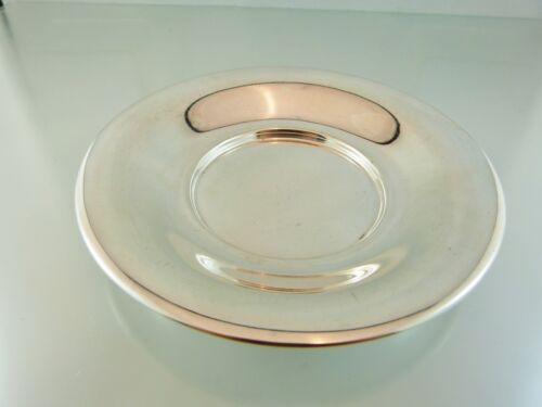 PLAIN STERLING ROLLED RIM DISH or SAUCER 3258 BY SIAM STERLING PERU