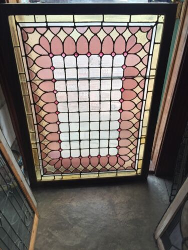 Sg 623 Antique Victorian Vertical Or Horizontal Jeweled Window