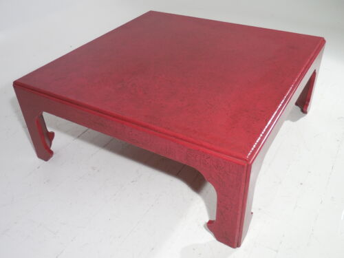 Baker Furniture Asian Style Cocktail Table Celadon Craquelure Mid Century Modern