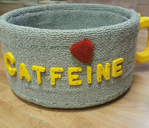 Cat Bed Furniture Coffee Cup Design Cats Kittens Handmade New