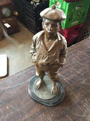 Antique Spelter Statue The Whistler