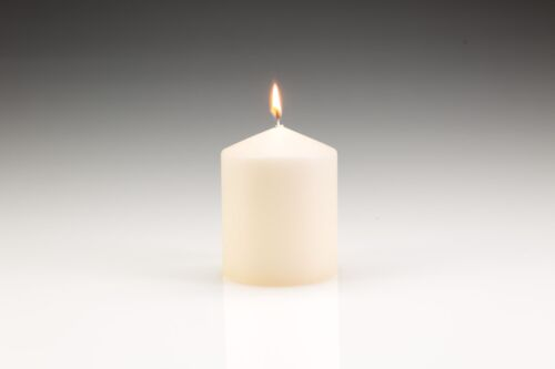10 x Pillar/Church Candles 100mm (H) x 80mm (D). High quality wax. Gala candles.