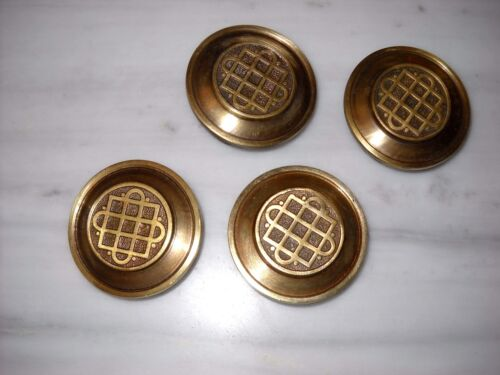 A lot of 4 Greece Vintage Solid Brass Ornate Door Knobs Handles Push/Pull