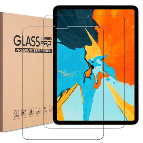 2x Tempered Glass Screen Protector for iPad 2 3 4 5th 6th Pro Air Mini iPhone X