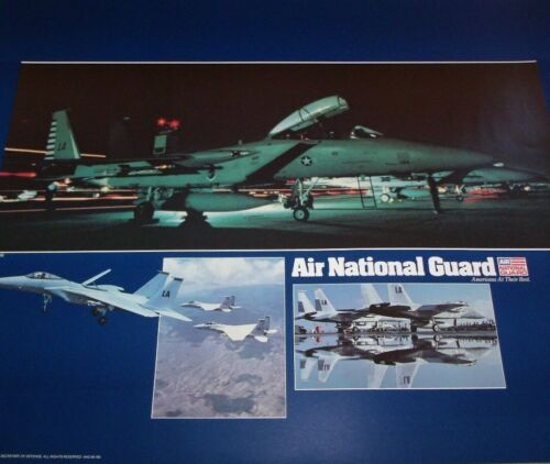 """US Air force F-15 Eagle Fighter Jet National Guard Official Poster 16"""" X 20""""Air Force - 66528"""