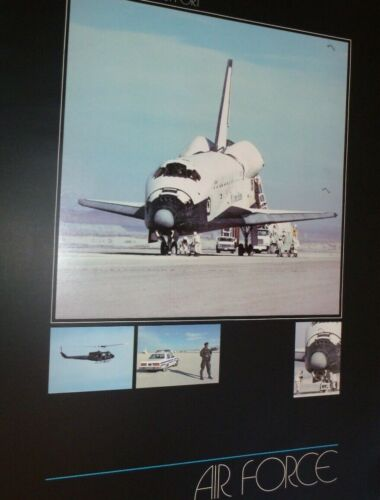 """Vintage Space Shuttle Support Official US Air Force Poster 17"""" X 23""""Air Force - 66528"""