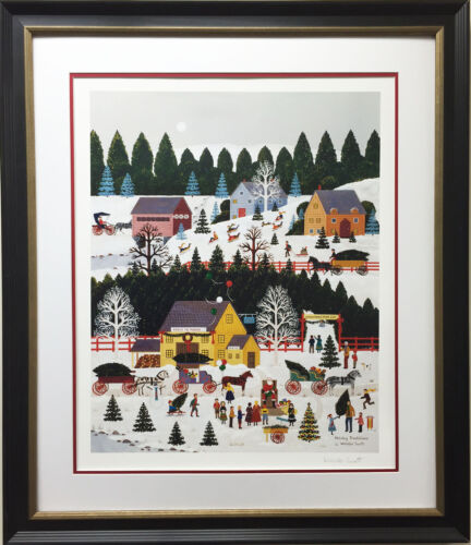 """Jane Wooster Scott """"Holiday Traditions"""" CUSTOM FRAMED Lithograph Hand Signed Art"""