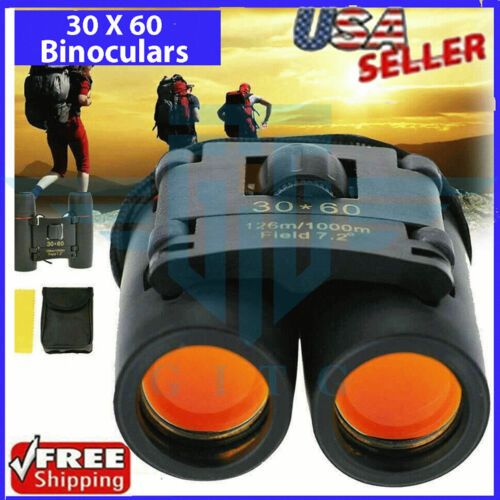 Binoculars 30x60 Zoom Outdoor Travel Compact Folding Telescope Hunting Day/Night <br/> Free Ship* Can Be used during Day Evening or Night