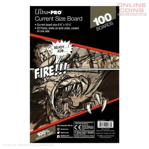 Ultra Pro Comic Series - CURRENT Size Comic Backing Boards x 100