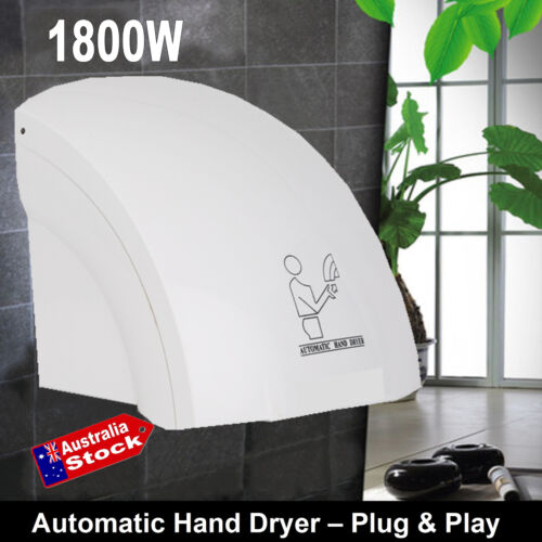 240v Automatic Deluxe Hand Dryer 1800 Watts Warm Jet stream drying hands in sec