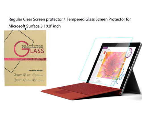 """For Microsoft Surface 3 10.8"""" Ultra Clear/Tempered Glass screen protector Film"""