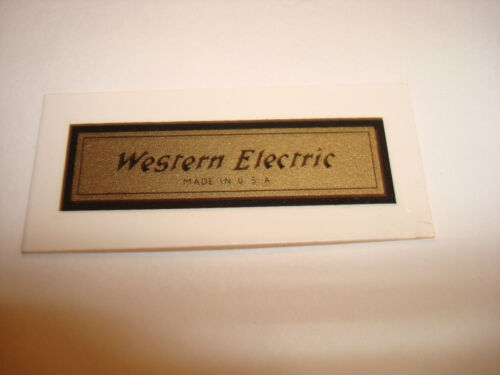 Western Electric telephone Decals Antique telephone