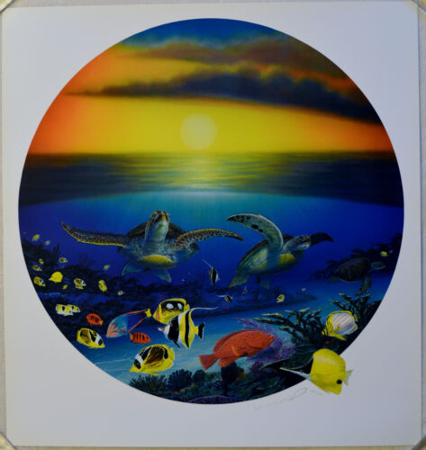 WYLAND SEA TURTLE REEF LITHOGRAPH SIGNED #745/950 W/COA STUNNING