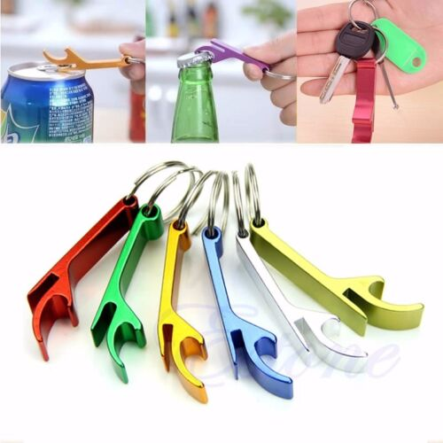 3 Pcs Bottle Opener Key Ring Chain Keyring Keychain Metal Beer Bar Tool Claw New