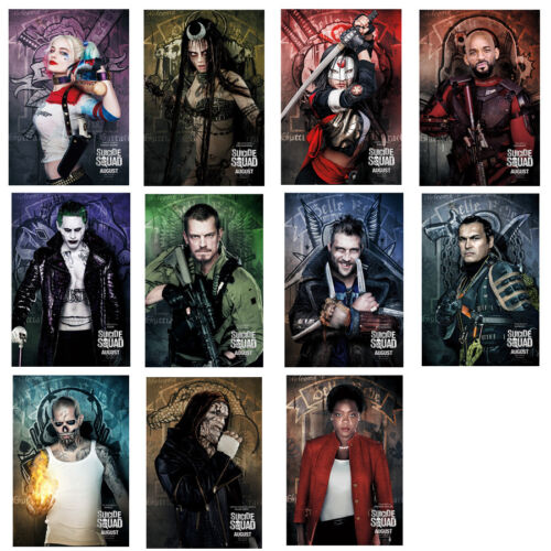 """Suicide Squad (2016) Movie Silk Fabric Poster 11""""x17"""" Harley Quinn Joker New"""
