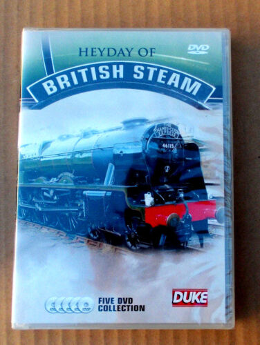 HEYDAY of British Steam (5 Disc Box Set/Collection) - DVD  New Free post