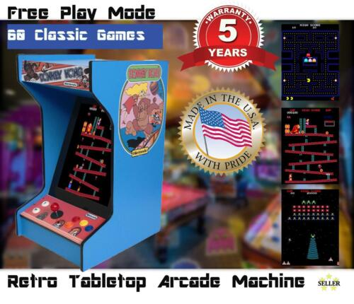 Top Holiday Gifts *New* Donkey Kong Upright Bartop/Tabletop Arcade Machine With 60 Classic Games
