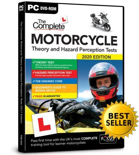 Latest Motorcycle / Motorbike 2019 Theory & Hazard Perception Tests PC DVD-Rom.