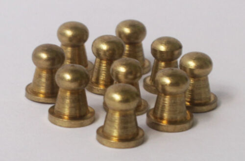 Tiny Knobs Solid Brass Set of 10