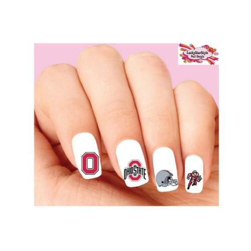 Waterslide Nail Decals Set of 20 - Ohio State Buckeyes Football Assorted