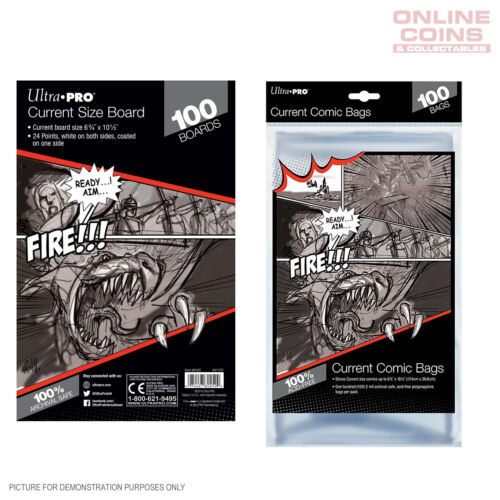 BUNDLE! Ultra Pro Comic Series - CURRENT Size Comic Bags & Backing Boards x 100