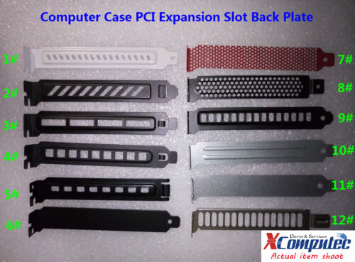 3pcs PC Case PCI Expansion Slot BackPlate Cover Dust Filter Steel Blank Multi
