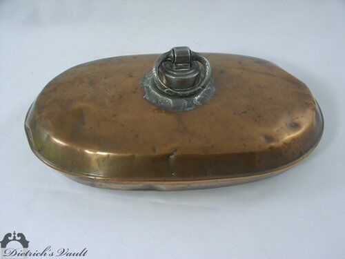 Antique Copper and Pewter Foot Warmer Hand Hammered
