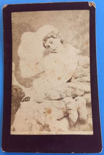 Original MRS CORNWALLIS WEST 1890's Cabinet Photo ROYAL MISTRESS Prince of Wales