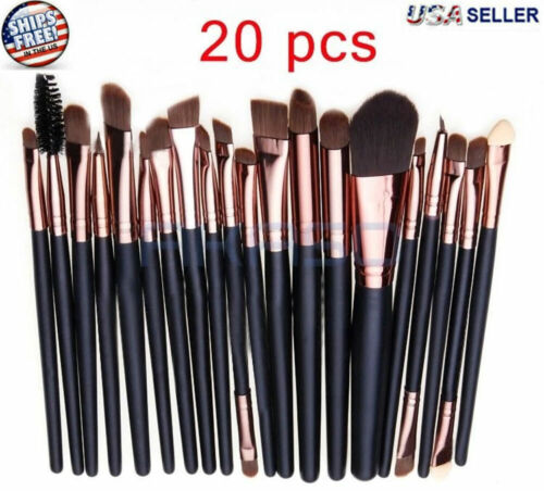 20pcs Makeup BRUSHES Kit Set Powder Foundation Eyeshadow Eyeliner Lip Brush NEW <br/> Foundation Eyeshadow Eyeliner Eyebrow Lip Mascara Brush
