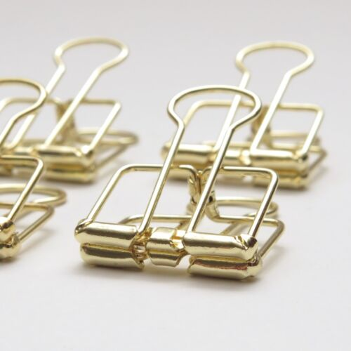 Gold Planner Paper Clips Binder Bulldog Paperclip 19mm