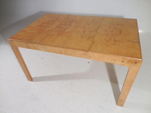 70's Modern Henredon Burl Parsons Style Compact Extension Dining/Game Table/Desk