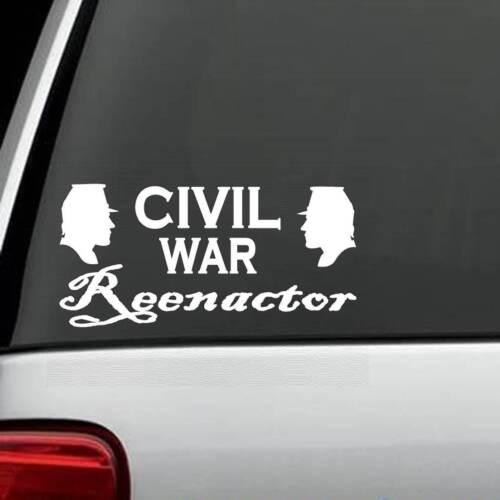 M1046 Civil War Reenactor Soldiers Decal Sticker Confederate Union Yankee KepiOther Civil War Reproductions - 13961